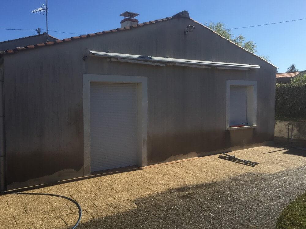 Avant – Ravalement de façade maison